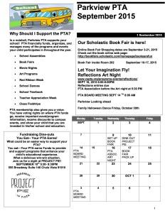 PTA News Letter September