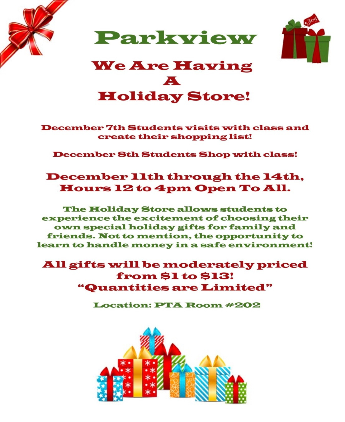 2017 holiday store flyer